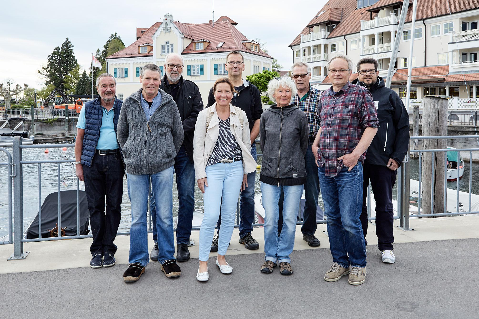 Gruppenbild der Gründungsmitglieder – Förderverein Fischereimuseum Langenargen e.V. April 2019